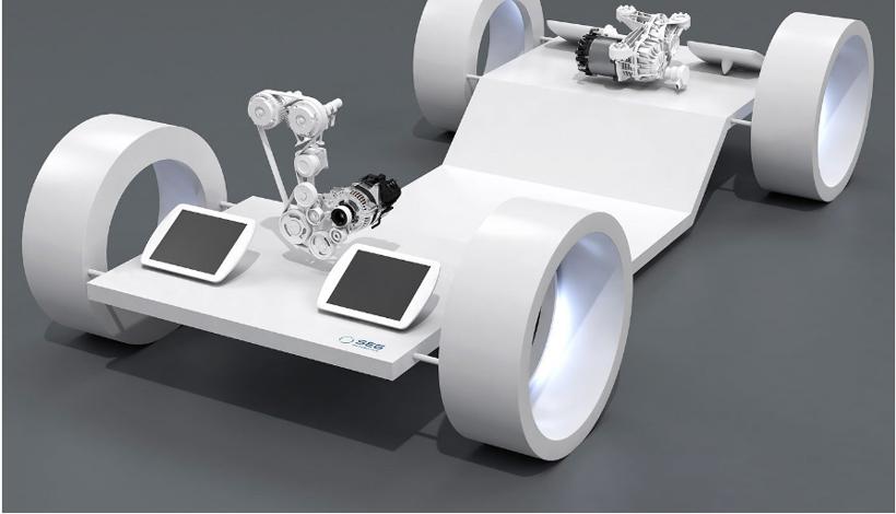 赛格展示新款EM 1.25 电动设备 适用于48V混合动力车和电动汽车