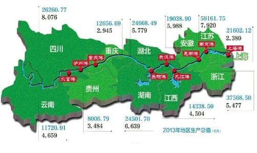 长江经济带三大区域城市竞争力空间分异