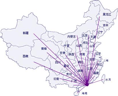 中国地图 北京 辐射
