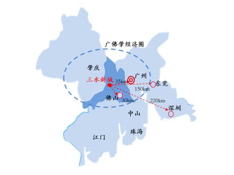 广东佛山三水新城产业规划