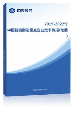 2015-2018年中国智能制造重点企业竞争情报(免费)