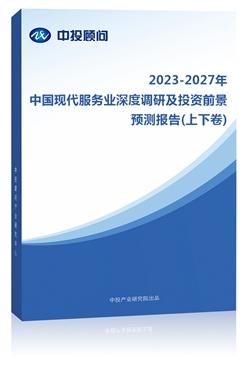 2020-2024年中国现代服务业深度调研及投资前景预测报告(上下卷)